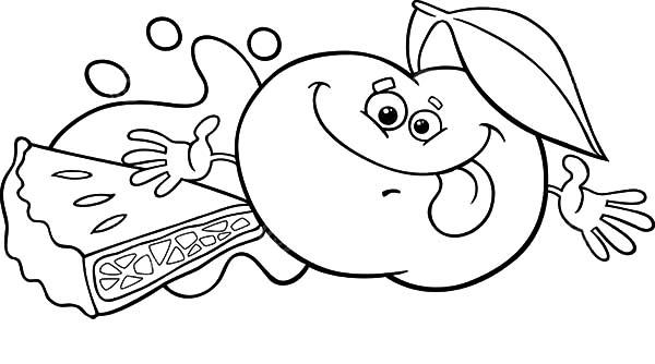 Smiling Apple For Apple Pie Coloring Pages