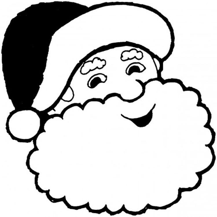 Smiling Santa Claus Coloring Pages Christmas Coloring Pages Of