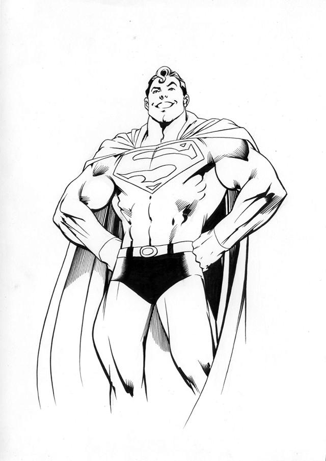Smiling Superman Coloring Pages For Print