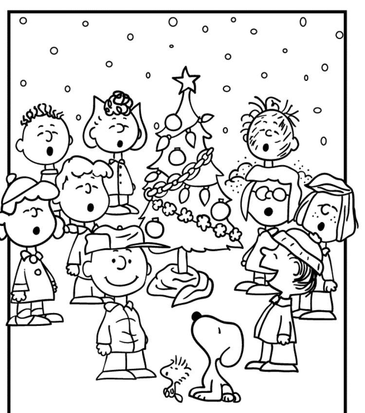 Snoopy Free Coloring Pages For Christmas