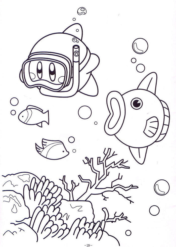 Snorkle Kirby Coloring Pages