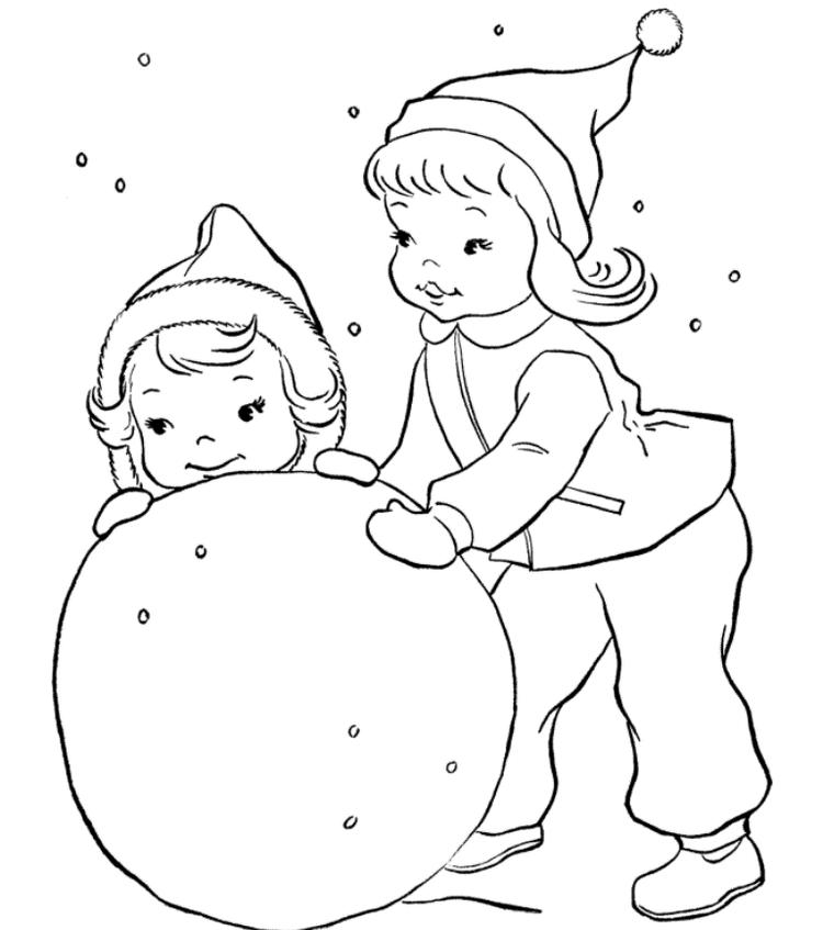 Snow Fun Winter Color Pages To Print