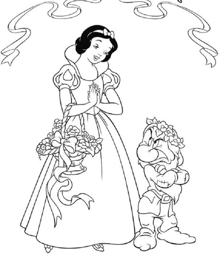 Snow White Giant Coloring Pages
