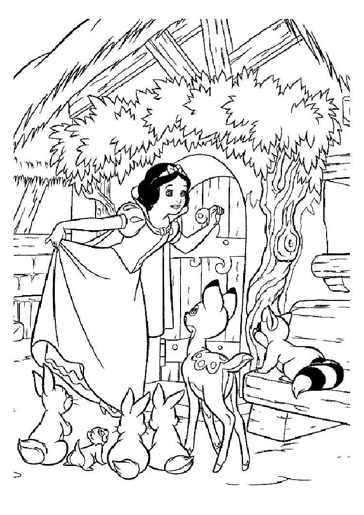 Snow White Story Coloring Pages