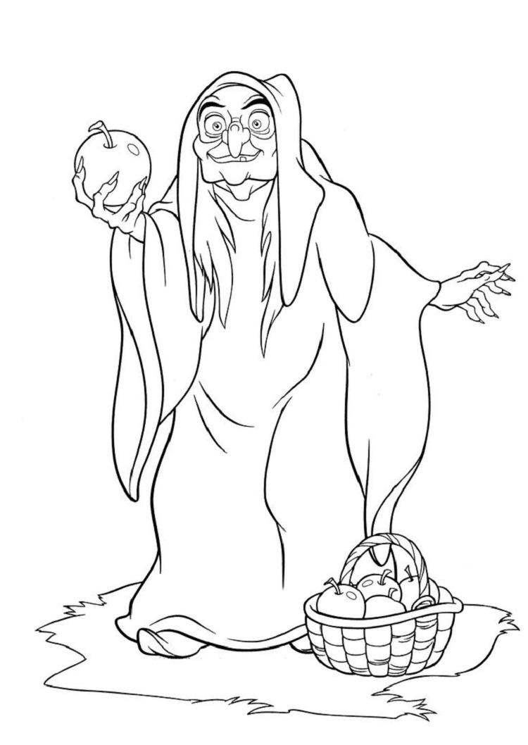 Snow White Witch Coloring Pages