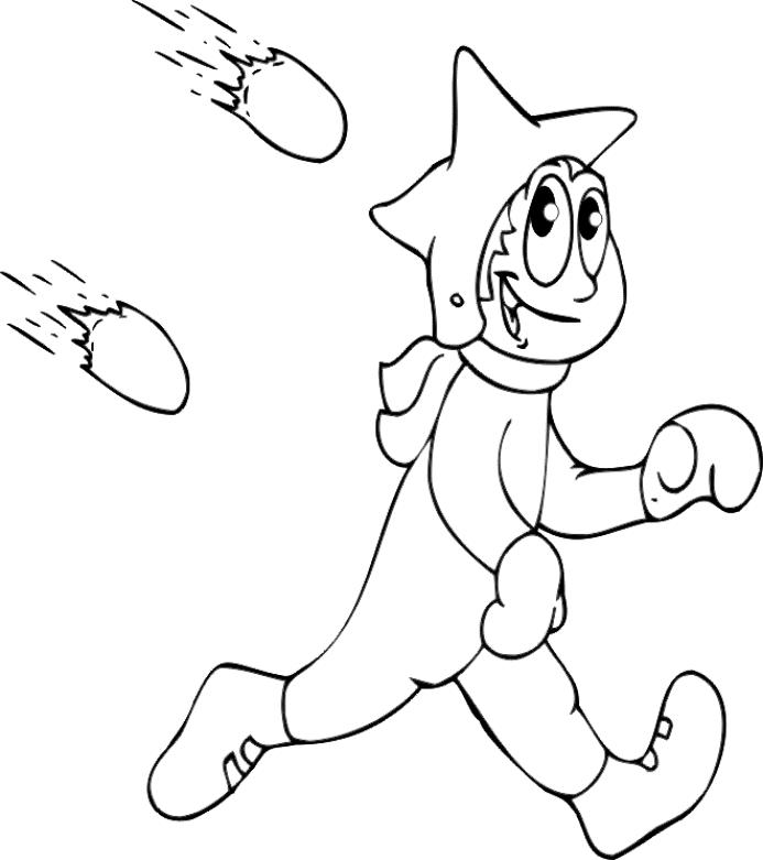 Snowball Fight Winter Coloring Pages