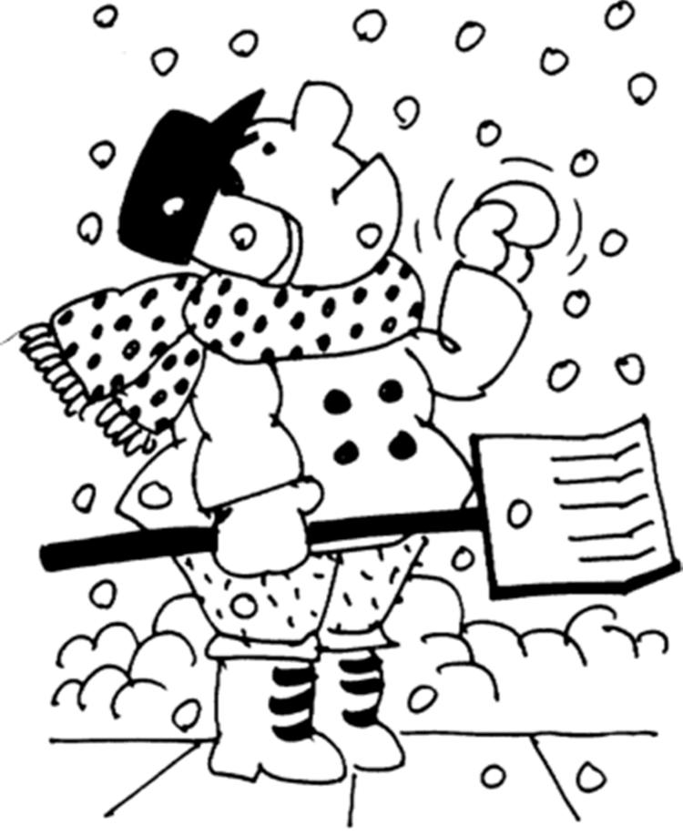 Snowfall In Winter Coloring Pages