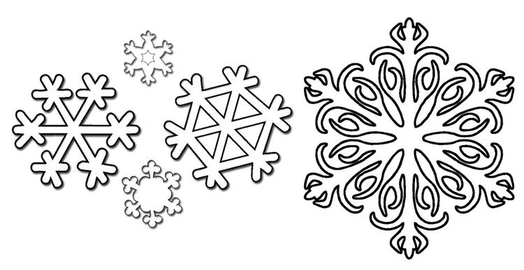 Snowflakes Winter Coloring Page
