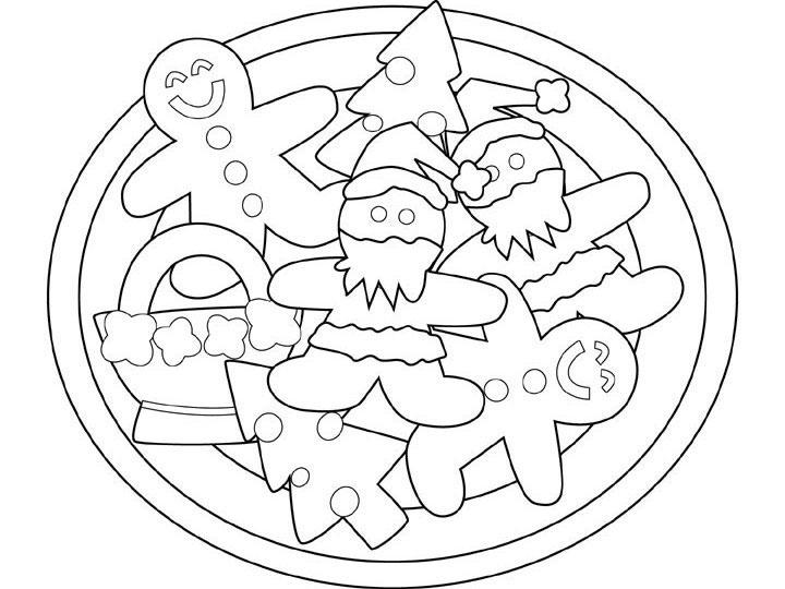Snowman Cakes Coloring Pages