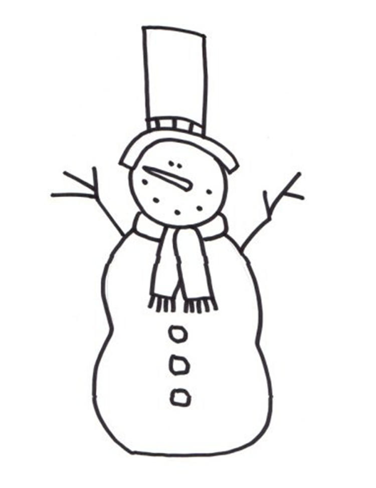 Snowman Coloring Pages For Children