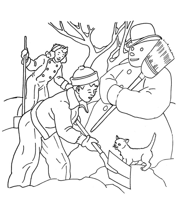 Snowman Coloring Pages For Kids Printable