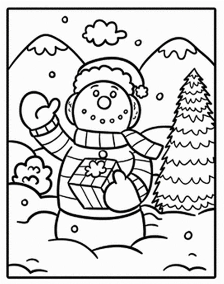 Snowman Coloring Pages To Print Free
