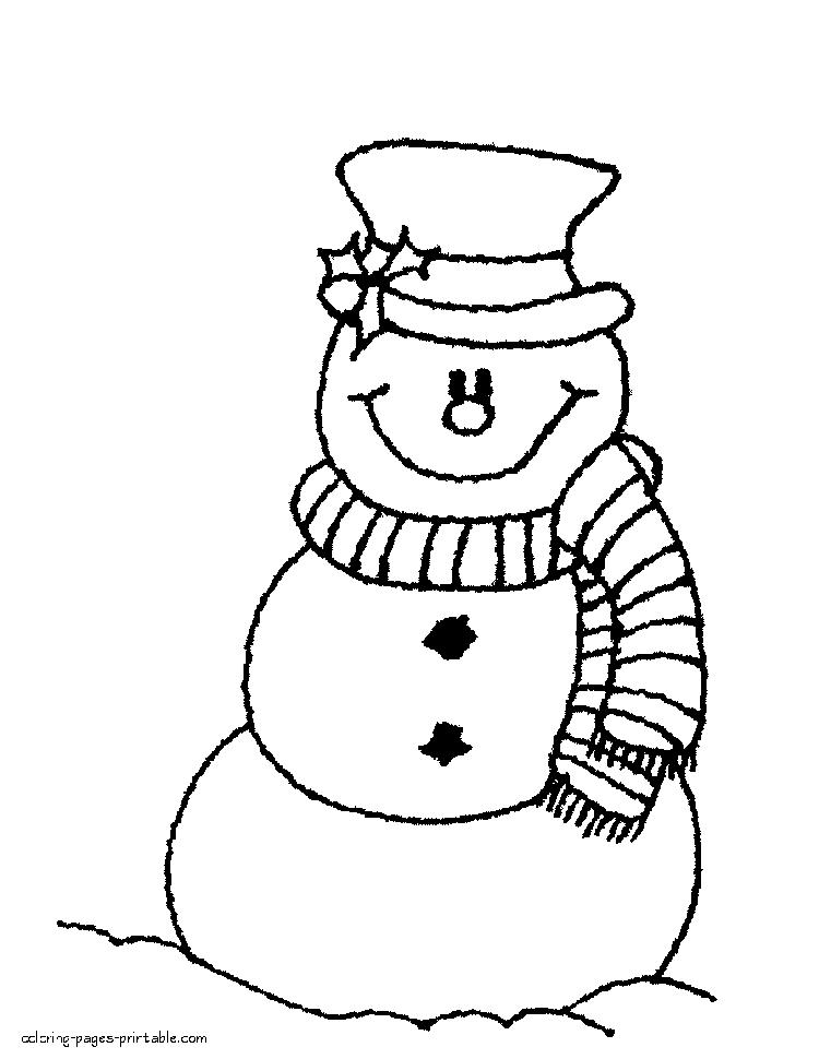 Snowman Coloring Pages To Print In Coloring Pages Printable Itgod Me