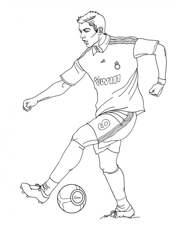 Soccer Coloring Pages Cristiano Ronaldo