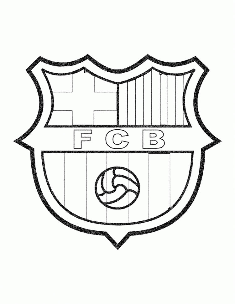 Soccer Coloring Pages Fc Barcelona
