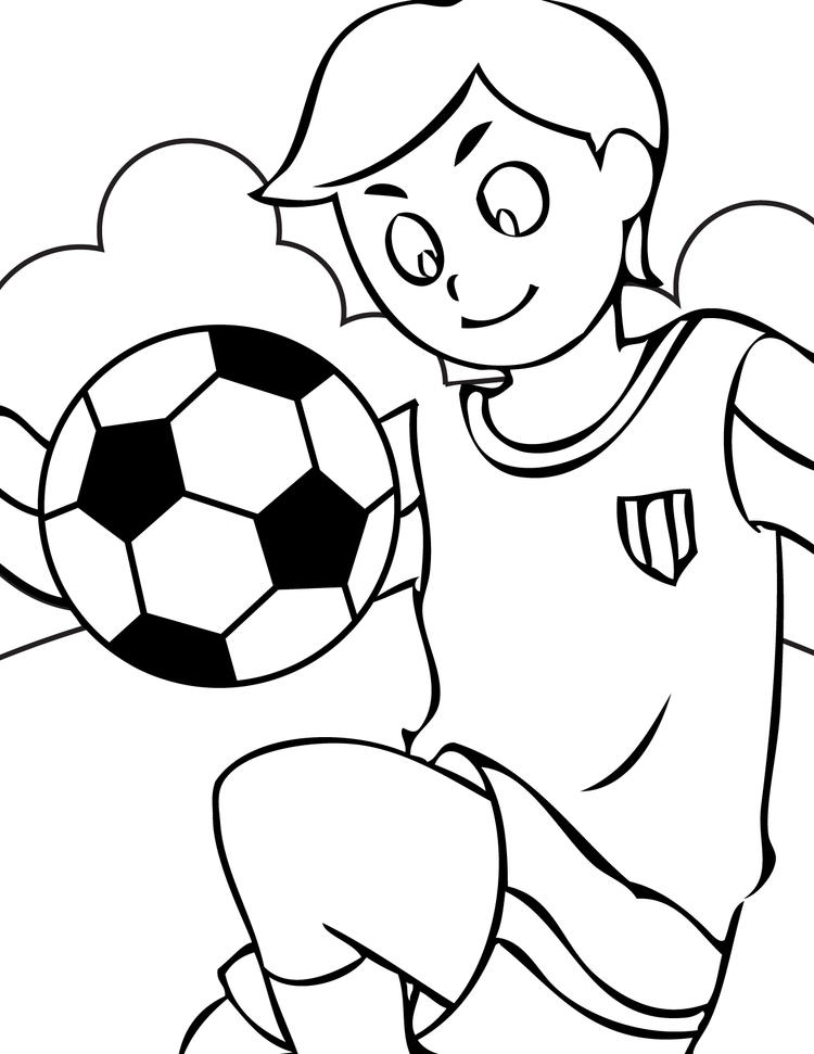 Soccer Coloring Pages Free Printable