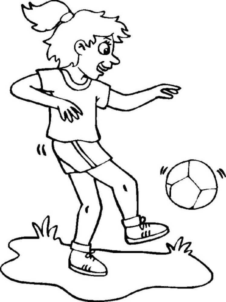 Soccer Coloring Pages Girl