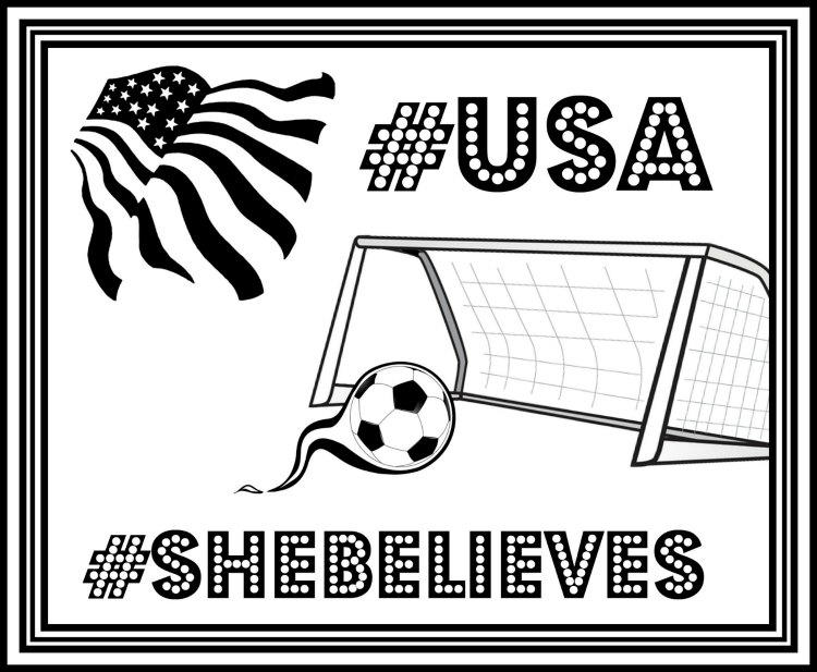 Soccer Coloring Pages Usa Girls Soccer