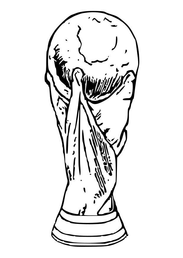 Soccer coloring pages world cup trophy