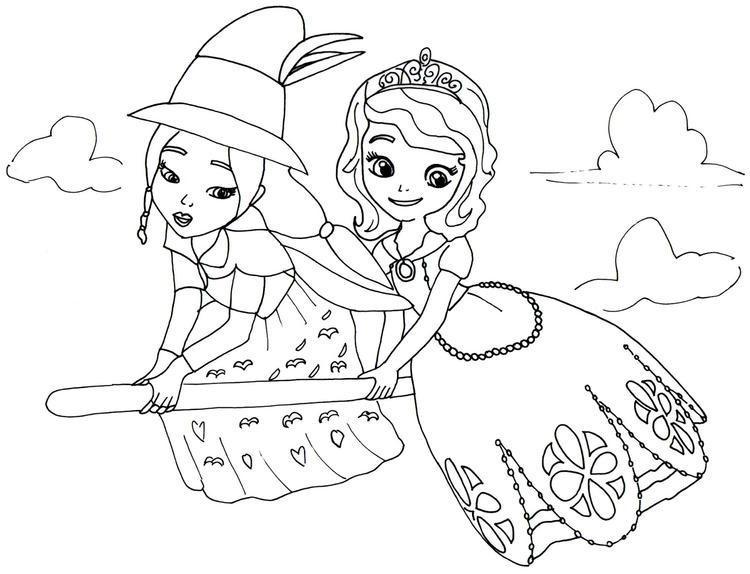 Sofia The First Coloring Page For Girls