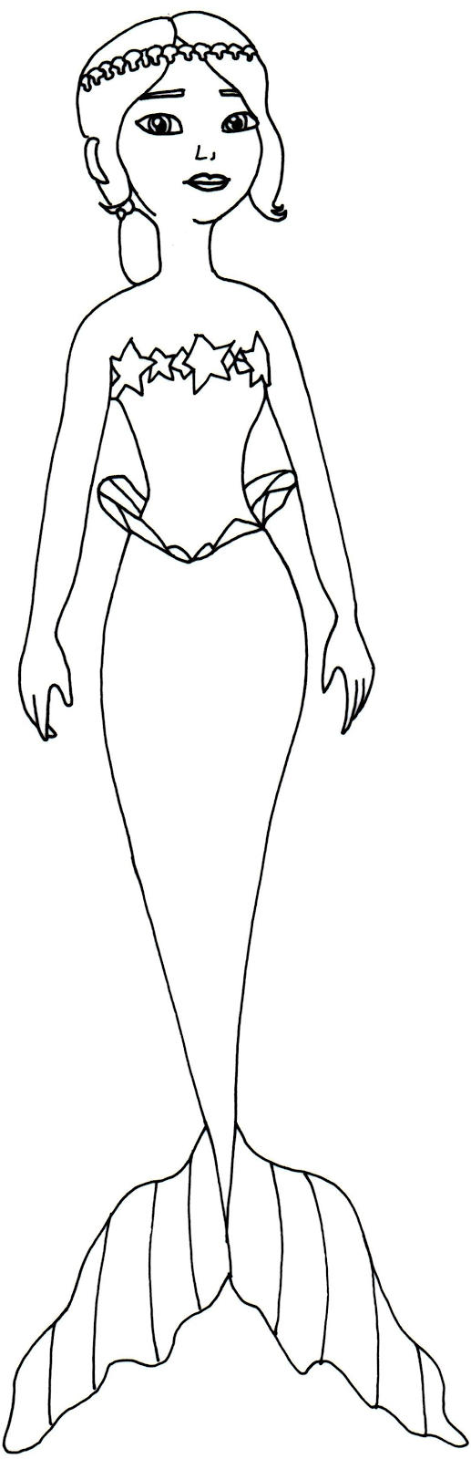 Sofia The First Coloring Pages Mermaid Cora