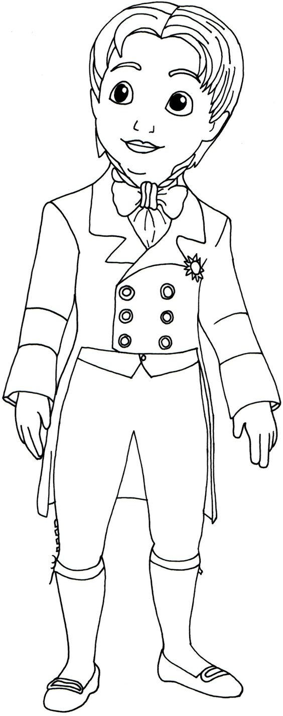 Sofia The First Coloring Pages Prince James