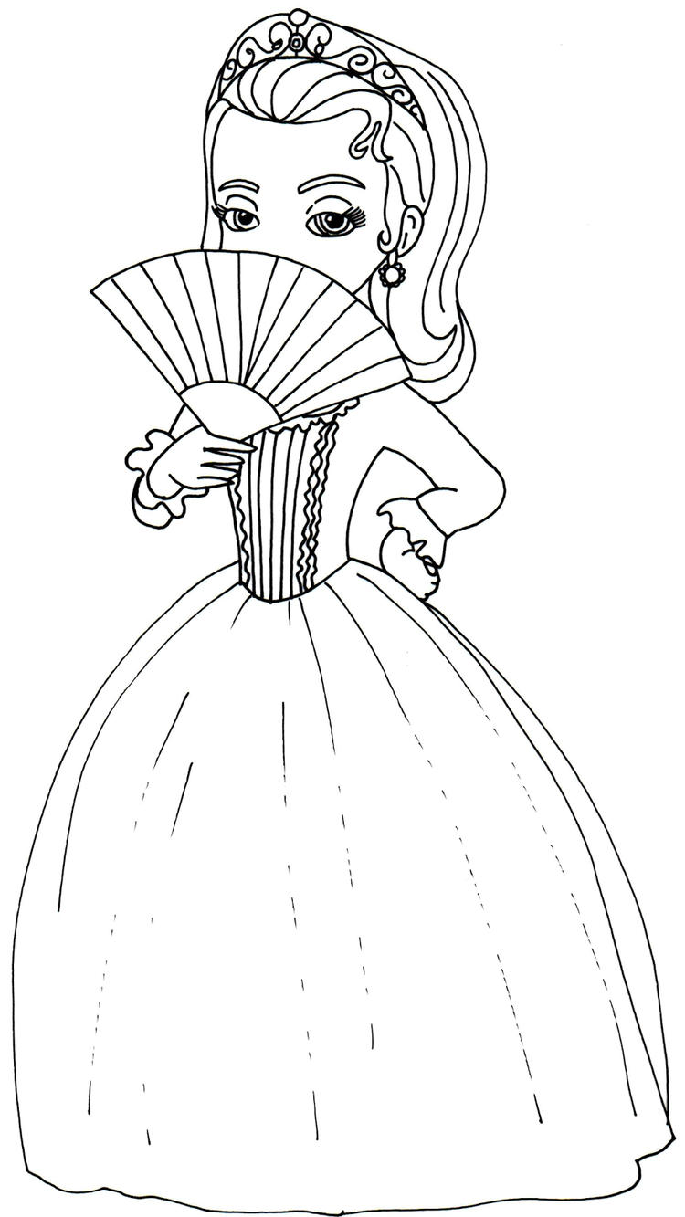 Sofia The First Coloring Pages Princess Amber