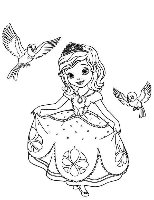 Sofia The First Coloring Pages Robin And Mia