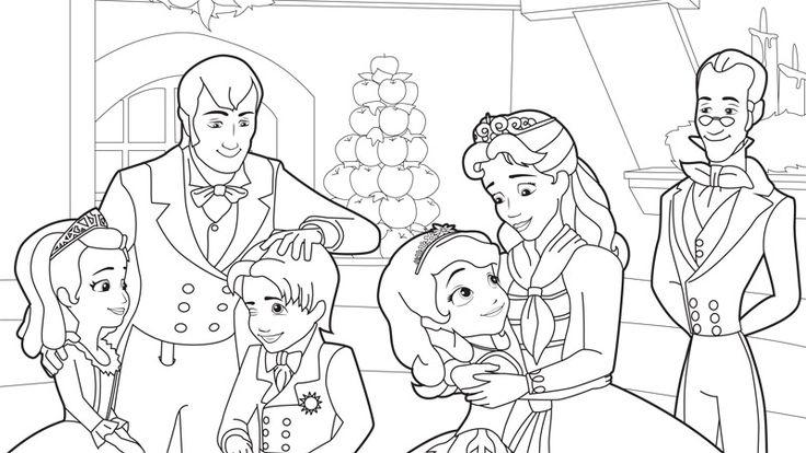 Sofia The First Coloring Pages Sofia And Family