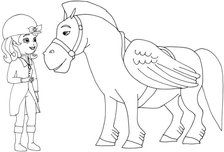 Sofia The First Coloring Pages Sofia And Minimus