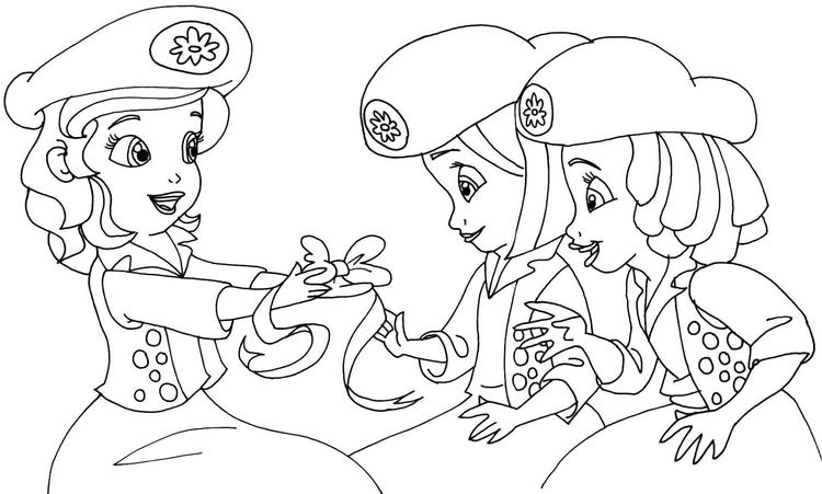 Sofia The First Coloring Pages The Buttercups