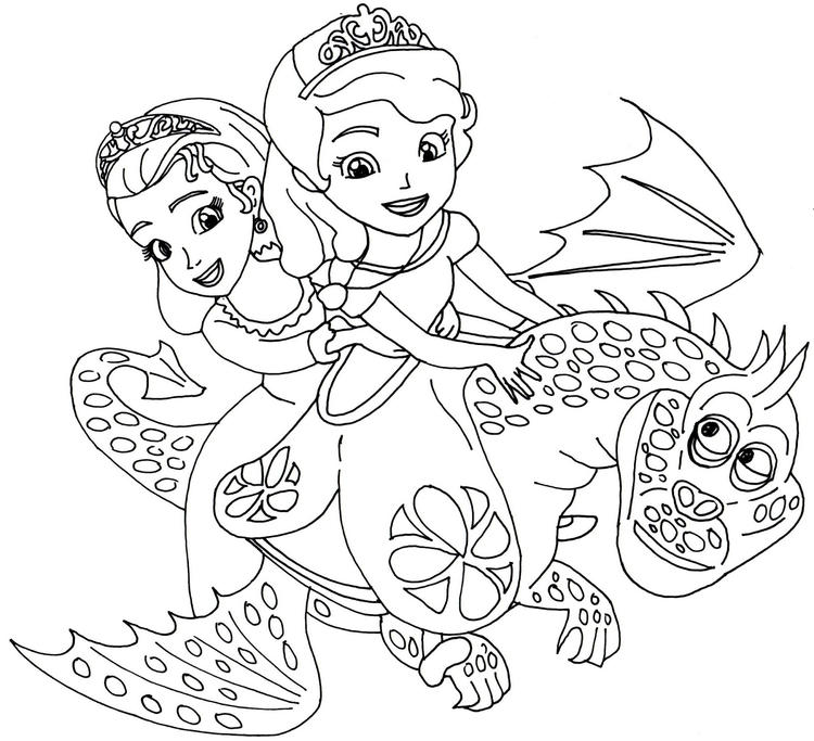 Sofia The First Coloring Pages The Curse Of Princess Ivy