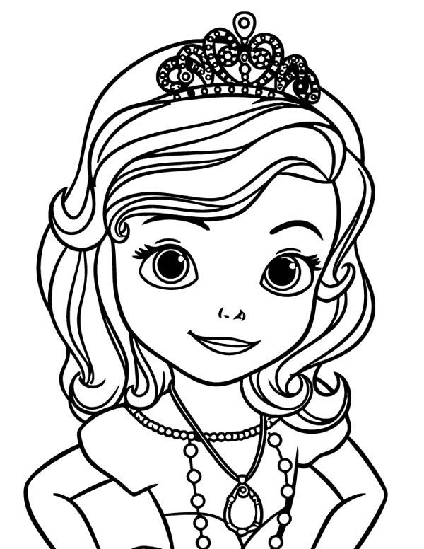 Sofia The First Coloring Pages Tiara