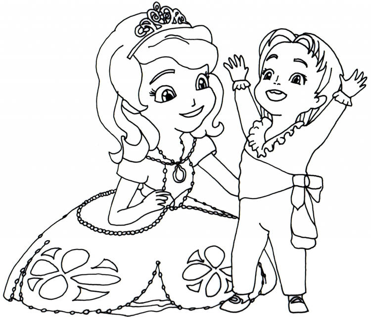 Sofia The First Coloring Pages With James