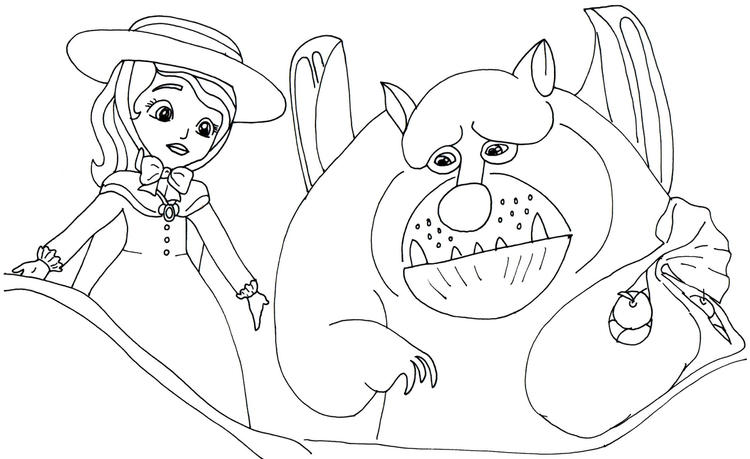 Sofia The First Coloring Picture