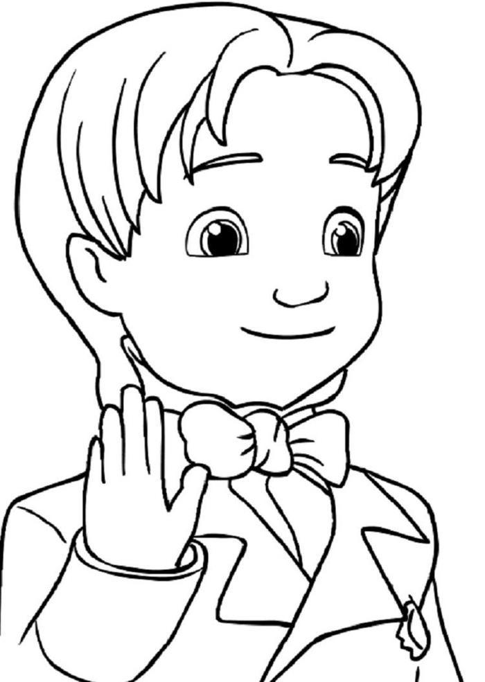 Sofia The First James Coloring Pages 1