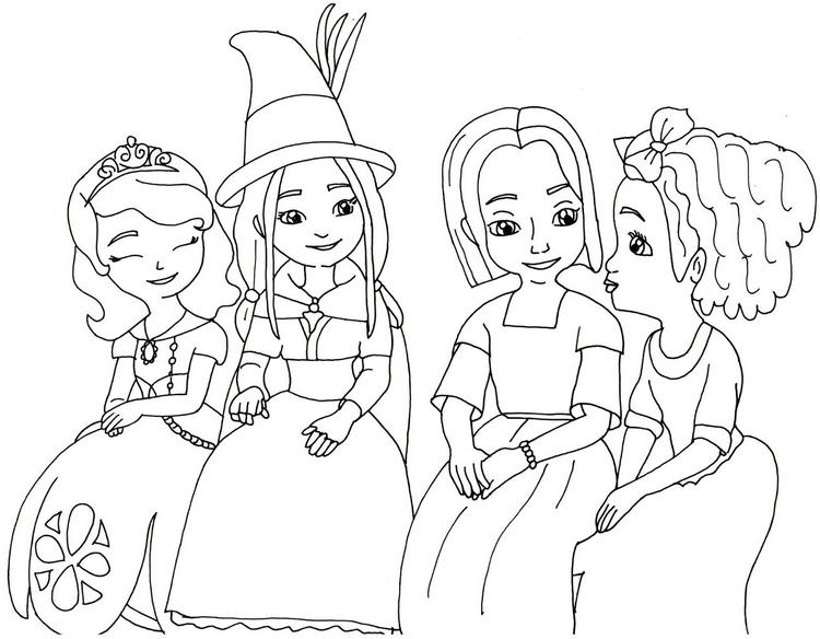 Sofia The Fist And Friends Colouring
