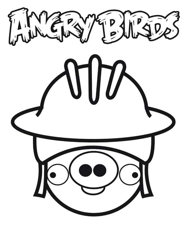 Soldier Of Angry Bird Pigs Coloring Pages