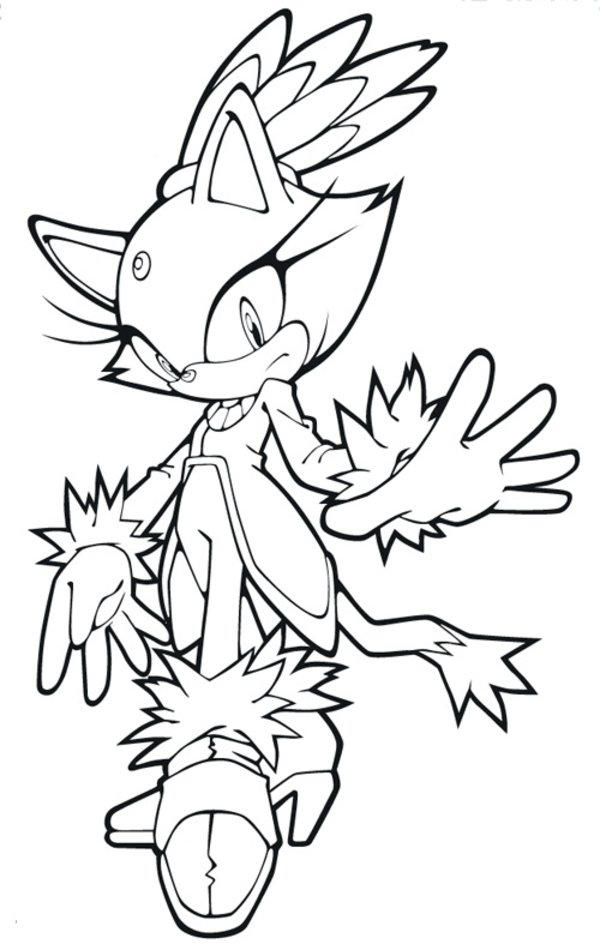 Sonic Coloring Pages Blaze The Cat