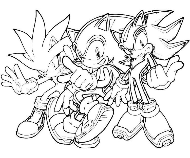 Sonic Silver Shadow Coloring Pages