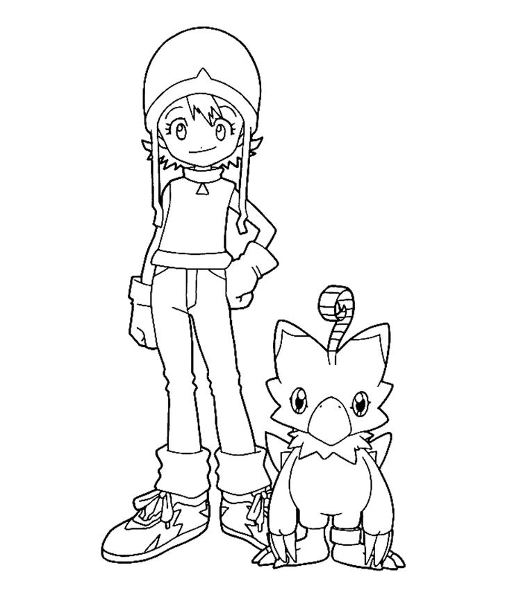 Sora Digimon Coloring Pages