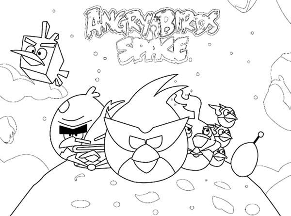 Space Adventure Angry Bird Space Coloring Pages