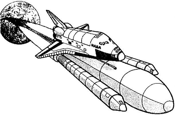 Space Coloring Pages Nasa Space Shuttle Launch