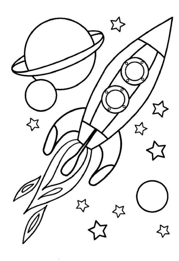 Spaceship Toddlers Coloring Pages