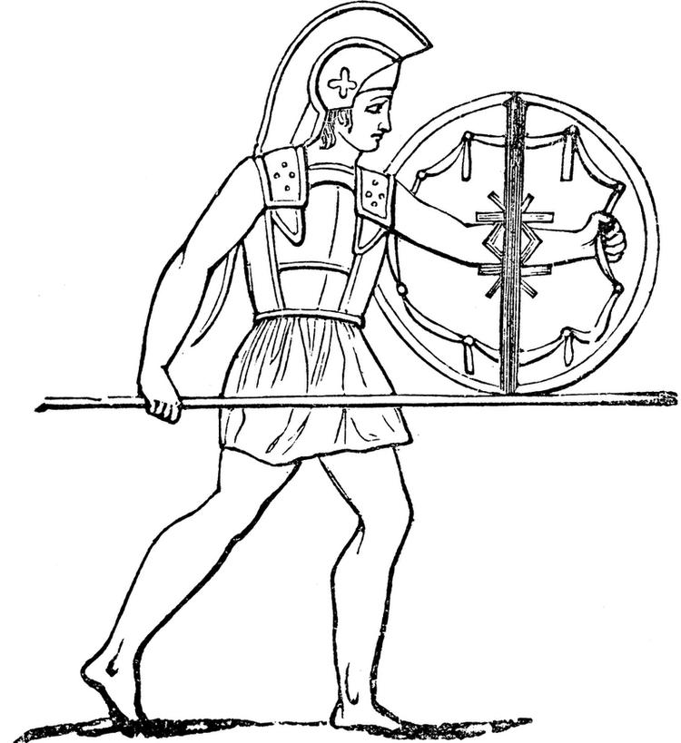 Spartan ancient greece coloring page