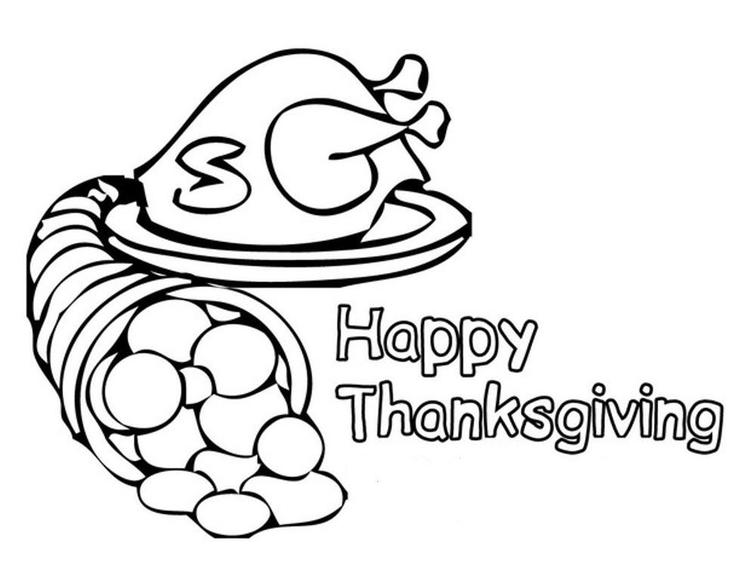 Special For Thanksgiving Coloring Pages Children