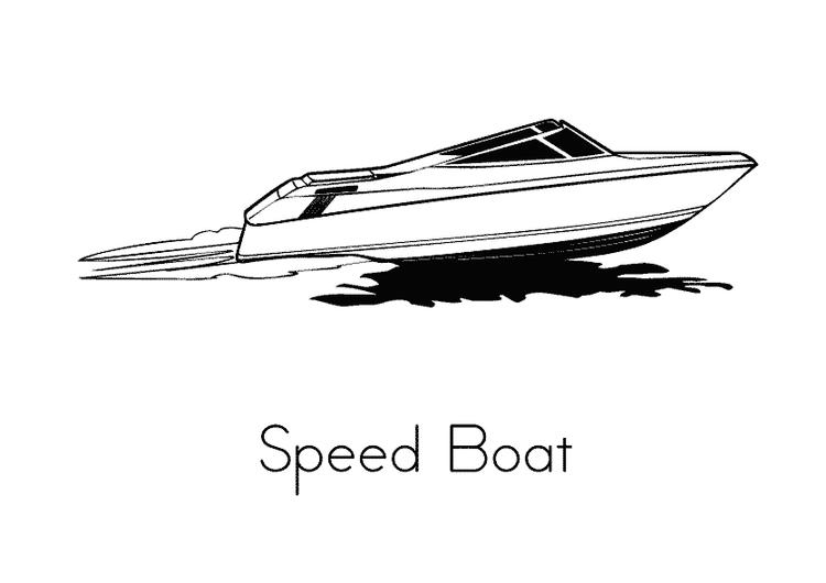 Speed Boat Coloring Pages Printable
