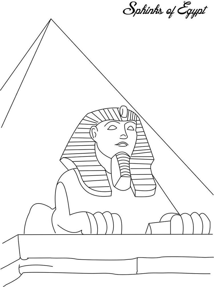 Sphinks Egypt Coloring Pages