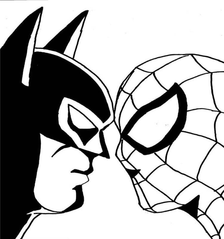 Spiderman batman coloring pages