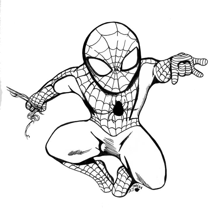 Spiderman Coloring Pages Chibi